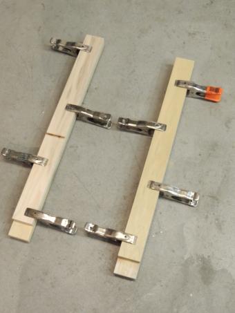 Cut lumber and bonded refrigerator slide mounts