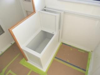 Painted calorifier cabinet