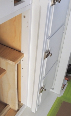 Painted pantry trim