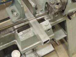 Cut aluminum for shower tray edge