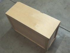 Cut plywood for aft dinette bench seat cushion cover