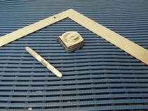 Cut shower mat