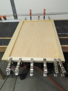 Fabricated face of aft dinette bench