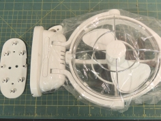 Fabricated over bed fan mount