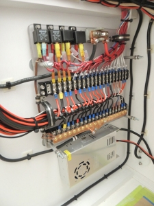 Finished all distribution panel wiring
