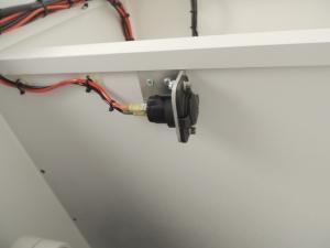 Installed refrigerator power socket