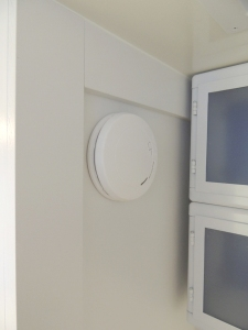 Installed smoke/CO detector