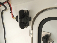 Installed water tank fill pump power socket