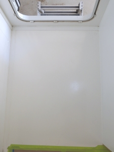 Laid out shower drain locations