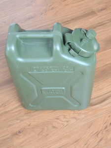 Received candidate water jerry can