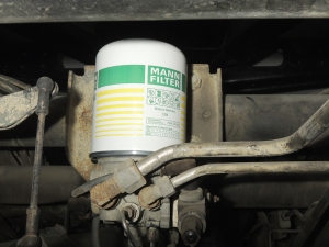 Replaced air dryer cartridge