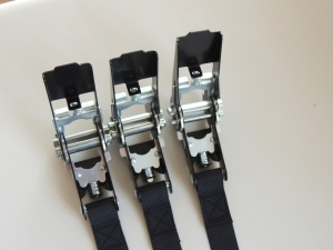 Sewed battery hold down straps