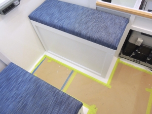 Test fit dinette seat cushions