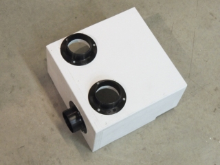 Bonded and screwed heater duct flanges to heater distribution box
