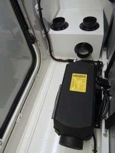 Bonded heater distribution box into habitat