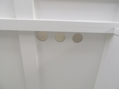 Drilled and painted vent holes in water tank area
