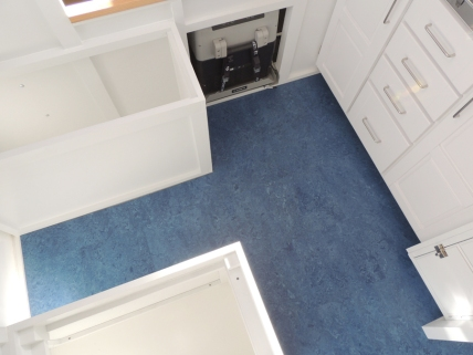 Finished installing marmoleum flooring