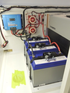 Installed batteries and battery cutoff switches