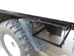 Installed both under subframe storage box mounts and boxes