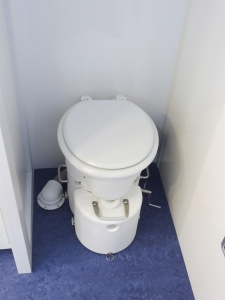 Installed composting toilet