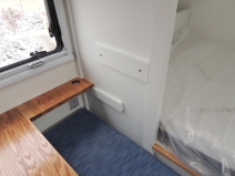 Installed dinette seat backs