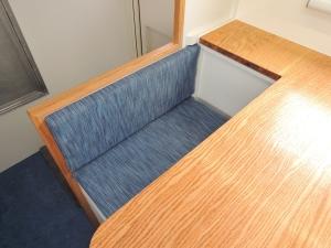 Installed dinette seat backs