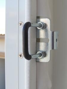 Installed white rubber seal strip around entry door