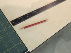 Measured, fabricated, and painted wire chase cover for over head board