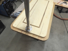 Mounted table leg socket to underside of table