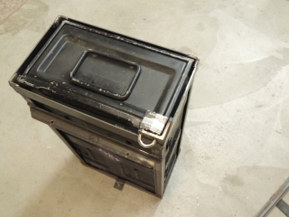 Welded lock plates to under subframe storage box mounts