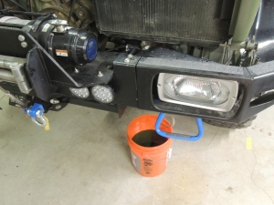 Drained coolant