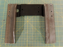 Fabricated pre-heater mount brackets