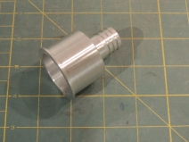 Machined sink drain adapter