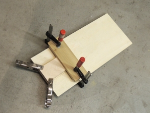 Made plywood mounting palette for under sink fresh water pump assembly