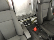Mounted speakers in cab
