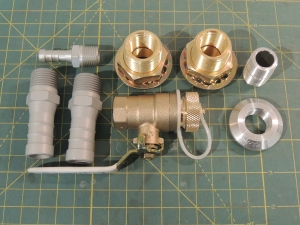 Received gray water tank fittings