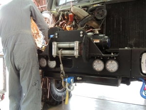 Removed brackets in engine bay that interfered with pre-heater