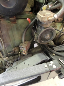 Removed old engine pre-heater (120V AC electric)