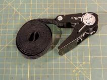 Sewed anti-rattle strap