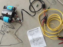 Test ran electric air compressor