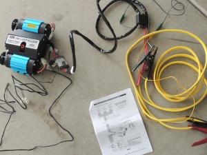 Test ran electric air compressor