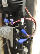 Wired and plumbed final water pump assembly