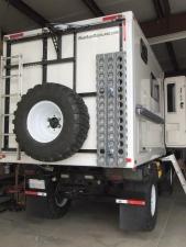 Applied Wabi-Sabi Overland vinyl decals to truck and habitat