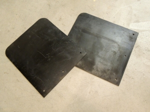 Cut rubber for mud flaps
