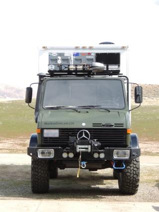 Drove truck to heat up fluids