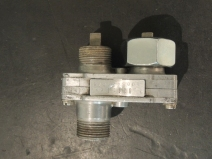 Fabricated hall effect sensor mount for speedometer sending unit