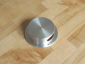 Fabricated toilet vent fan splash guard