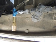 Installed electric air compressor manifold onto truck