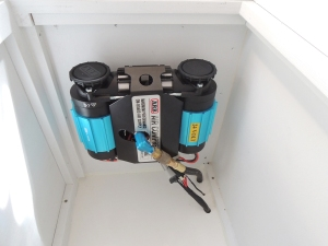 Installed electric air compressor
