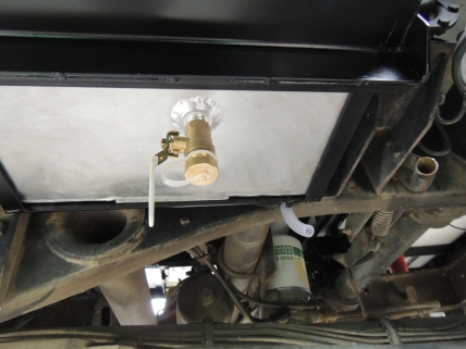 Installed gray water tank vent valve